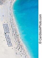 航空写真, myrtos 浜, 光景