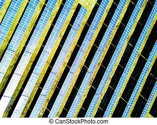 航空写真, plant., 太陽, 写真, 力