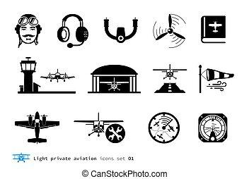航空学, ライト, 私用, アイコン