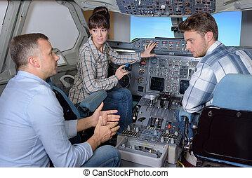 航空機, 中, シミュレーター