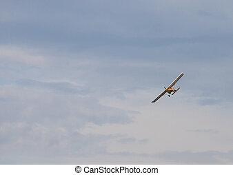 航空機, 飛行, 空, 連絡, 軍隊