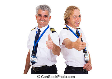 航線飛行員, 給, 上的姆指