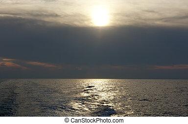 航跡, 海