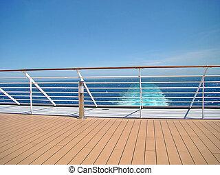 船の 巡航, 光景, 海, デッキ