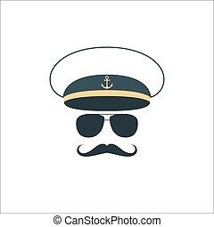 船員, 大尉, icon., 顔