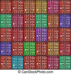 船塢, 容器, 堆, 貨物