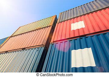 船塢, 貨物容器, 堆