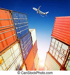 船塢, 飛机, 容器