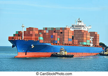 船容器, 堆, 貨物