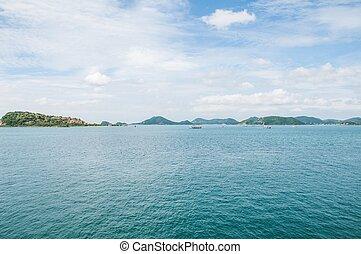 船, 看法, 海, 陽台