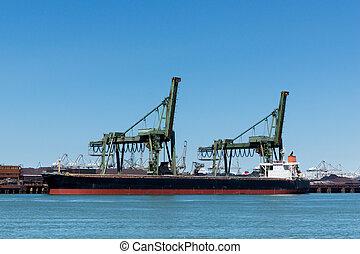 船, 鉱石, 荷を下すこと, 鉄