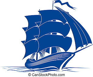 船, brigantine
