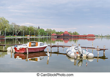 船, palic, 湖