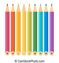 色の鉛筆, セット