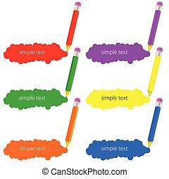 色の鉛筆, ベクトル, イラスト