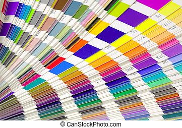 色のswatches
