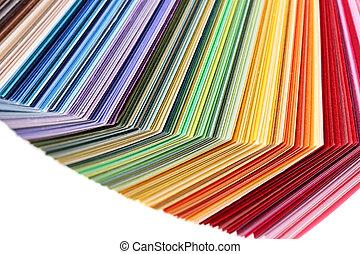 色のswatches, 本