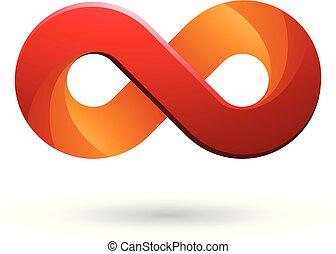 色合い, 無限点, 色, シンボル, イラスト, ベクトル, オレンジ, 赤