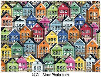 色彩丰富, 房子, 模式