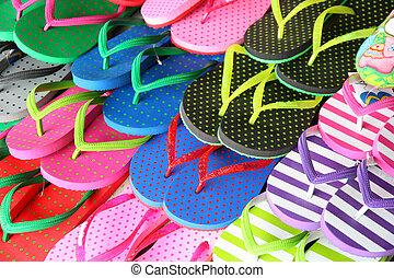 色彩丰富, 拖鞋