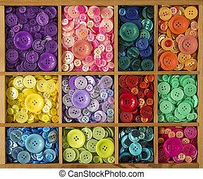 色彩丰富, 按钮