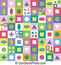 色彩丰富, 摘要, 形状, 模式