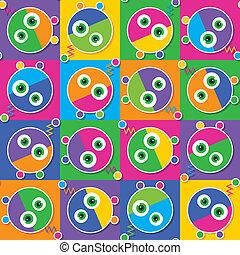 色彩丰富, 机器人, 收集, 模式