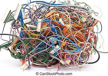 色彩丰富, 电线
