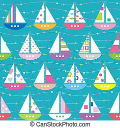 色彩丰富, 船, 模式