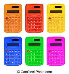 色彩丰富, 计算, 隔离, 在怀特上