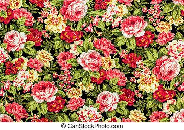 色彩丰富, retro, 织品, 挂毯, 片段, 背景, 升高