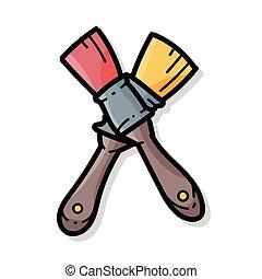 色, いたずら書き, ペイントブラシ
