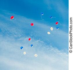 色, おもちゃ, 空, baloones