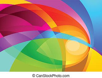 色, はね返し, 背景
