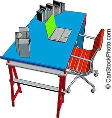 色, イラスト, ベクトル, テーブル, 椅子, ∥あるいは∥