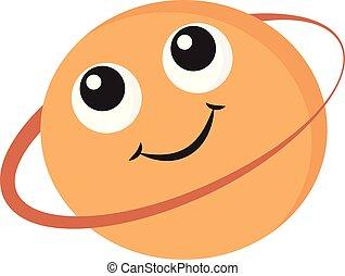 色, イラスト, ベクトル, 微笑, 土星, ∥あるいは∥, emoji