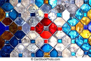 色, ガラスの壁