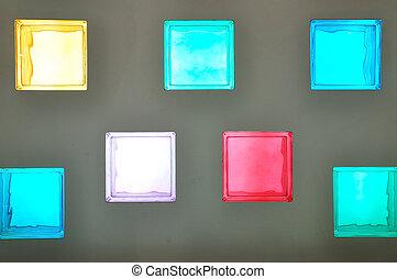 色, ガラスブロック