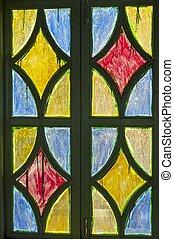 色, ガラス窓