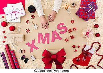色, クリスマスの 時間