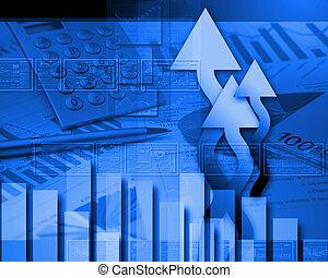 色, グラフ, 世界的である, 財政, チャート