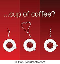 色, コーヒー, ベクトル, カップ