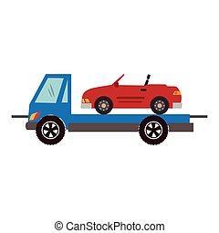 色, シルエット, ∥で∥, 牽引 トラック