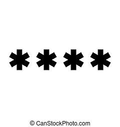 色, シンボル, 黒, 入りなさい, パスワード, アイコン