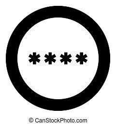 色, シンボル, 黒, 入りなさい, 円, パスワード, アイコン