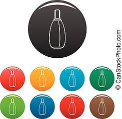 色, セット, 香水, アイコン