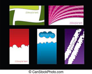 色, セット, 黒, カード, ビジネス