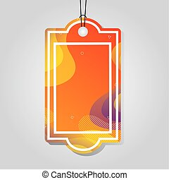 色, タグ, オレンジ, 活気に満ちた, comercial