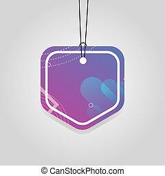 色, タグ, 活気に満ちた, comercial, 紫色