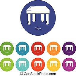 色, テーブル, ベクトル, セット, アイコン